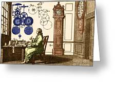 Clockmaker Greeting Card by Photo Researchers