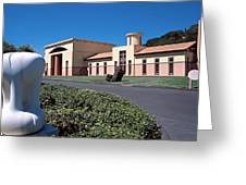 Clos Pegase Winery Napa Valley Greeting Card by George Oze