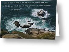 Close To The Edge Greeting Card by Jen White