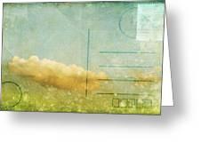 Cloud And Sky On Postcard Greeting Card by Setsiri Silapasuwanchai