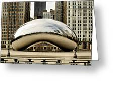 Cloud Gate - 3 Greeting Card by Ely Arsha
