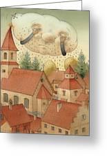 Cloud Greeting Card by Kestutis Kasparavicius