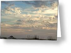 Clouds Gulf Islands National Seashore Florida Greeting Card by Paul Gaj