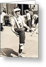 Clown At Work Greeting Card by Emery C Graham Jr