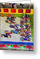 Clown Car Racing Game Greeting Card by Garry Gay