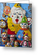 Clown Toys Greeting Card by Garry Gay