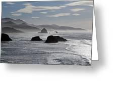 Coastal Mist Greeting Card by Randall Brewer