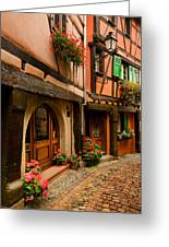 Cobble Stoned Street Greeting Card by John Galbo