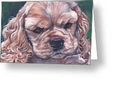 Cocker spaniel puppy Greeting Card by Lee Ann Shepard