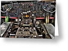 Cockpit Controls Hdr Greeting Card by Kevin Munro