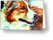 Cocoa Lassie Collie Dog Greeting Card by Christy  Freeman
