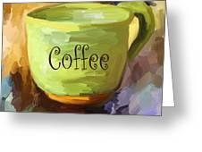 Coffee Cup Greeting Card by Jai Johnson