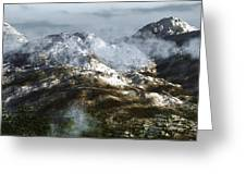 Cold Mountain Greeting Card by Richard Rizzo