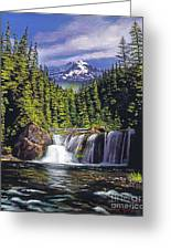 Cold Water Falls Greeting Card by David Lloyd Glover