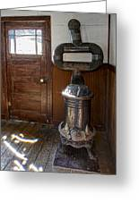 Coles Hot Blast Stove - Molson Ghost Town Greeting Card by Daniel Hagerman