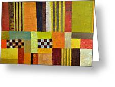 Color and Pattern Abstract Greeting Card by Michelle Calkins