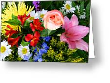 Color Explosion Greeting Card by Kristin Elmquist