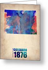 Colorado Watercolor Map Greeting Card by Naxart Studio