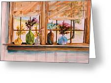 Colored Glass Greeting Card by John  Williams