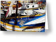 Colorful Boats Greeting Card by Lainie Wrightson