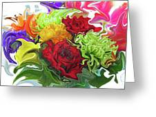 Colorful Bouquet Greeting Card by Kathy Moll