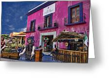 Colorful Cancun Greeting Card by Douglas Barnard