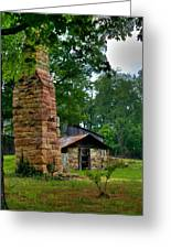 Colorful Chimney Greeting Card by Douglas Barnett