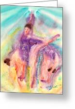 Colorful Dance Greeting Card by John YATO