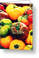 Colorful Harvest Greeting Card by Cathie Tyler