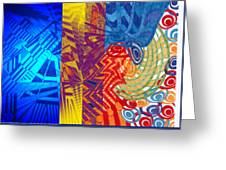 Colorful Light Greeting Card by B and C Art Shop