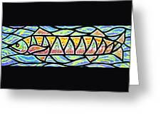 Colorful Longfish Greeting Card by Jim Harris