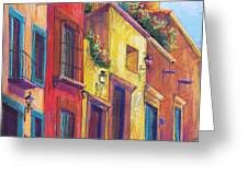 Colorful San Miguel Greeting Card by Candy Mayer