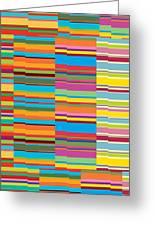 Colorful Stripes Greeting Card by Ramneek Narang