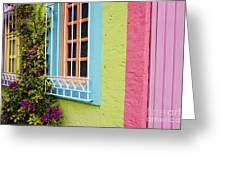 Colorful Walls Greeting Card by Jeremy Woodhouse