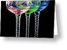 Colorful wine glasses Greeting Card by Gert Lavsen