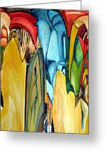 Colors Greeting Card by Mindy Newman