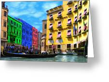 Colors Of Venice Greeting Card by Jeff Kolker