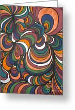 Colorway 4 Greeting Card by Ramneek Narang