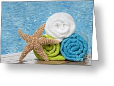 Colourful towels Greeting Card by Amanda And Christopher Elwell