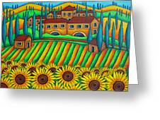 Colours Of Tuscany Greeting Card by Lisa  Lorenz
