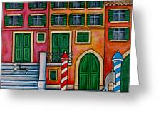 Colours Of Venice Greeting Card by Lisa  Lorenz