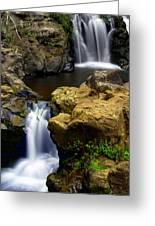 Columba River Gorge Falls 2 Greeting Card by Marty Koch