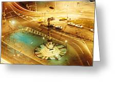 Columbus Circle Greeting Card by Don Youngclaus