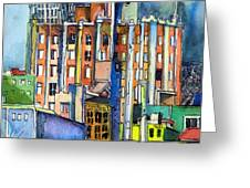 Columbus Ohio City Lights Greeting Card by Mindy Newman