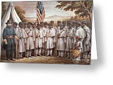 'Come and Join Us Brothers' Greeting Card by American School
