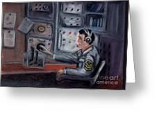 Communications Operator Greeting Card by Kostas Koutsoukanidis