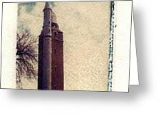 Compton Water Tower Greeting Card by Jane Linders