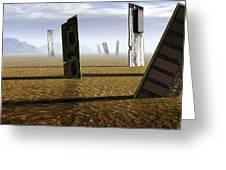 Computer Circuit Board Graveyard Greeting Card by Tim Vernonlth Nhs Trust