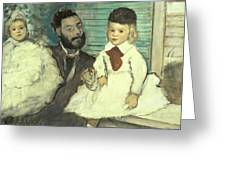 Comte Le Pic And His Sons Greeting Card by Edgar Degas