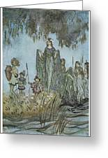 Comus Sabrina Rises Attended By Water-nymphs Greeting Card by Arthur Rackman